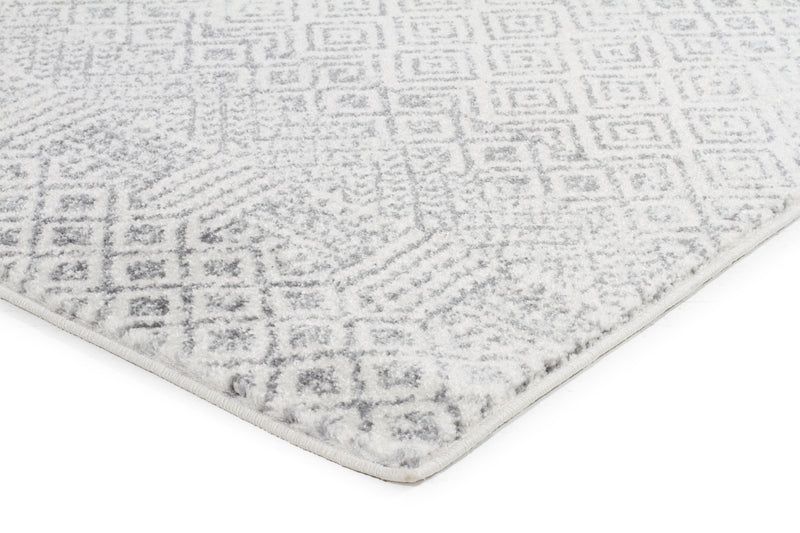 Diamond Grey Transitional Rug - MaddieBelle