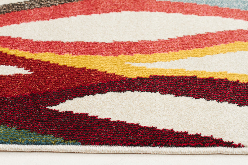 Ellis Modern Multi Coloured Rug - MaddieBelle