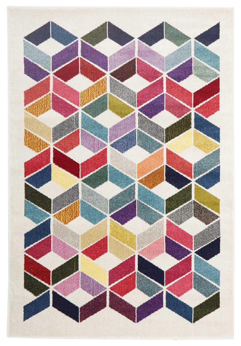 Digital Modern Multi Coloured Rug - MaddieBelle