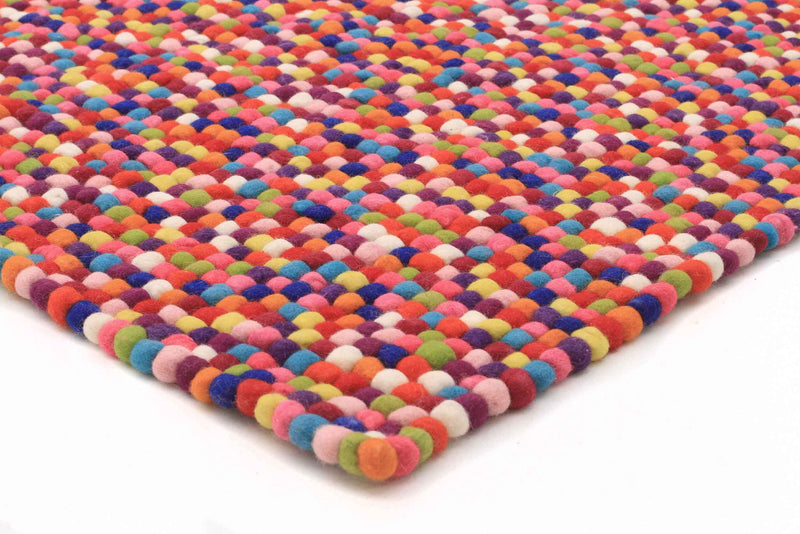 Felted Gumball Wool Rug