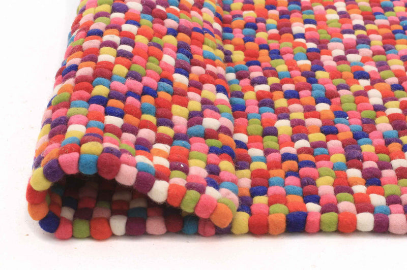 Felted Gumball Wool Rug - MaddieBelle