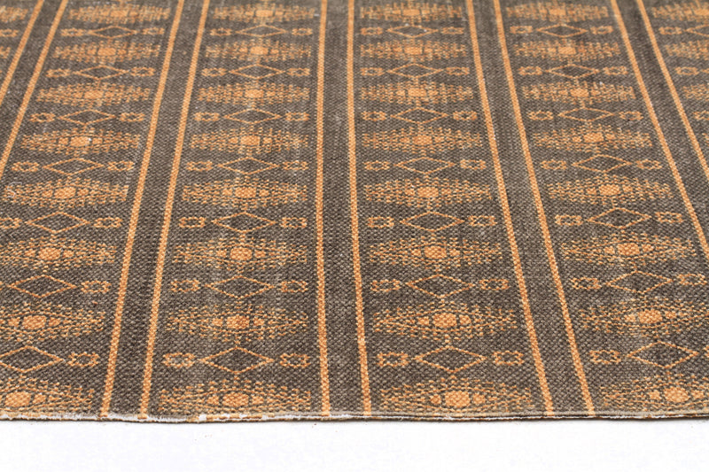 Ginger Printed Reversible Gold Rug