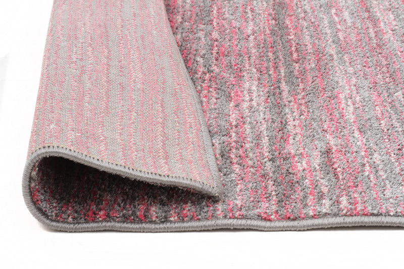 Contemporary Stripe Pink & Grey Rug - MaddieBelle
