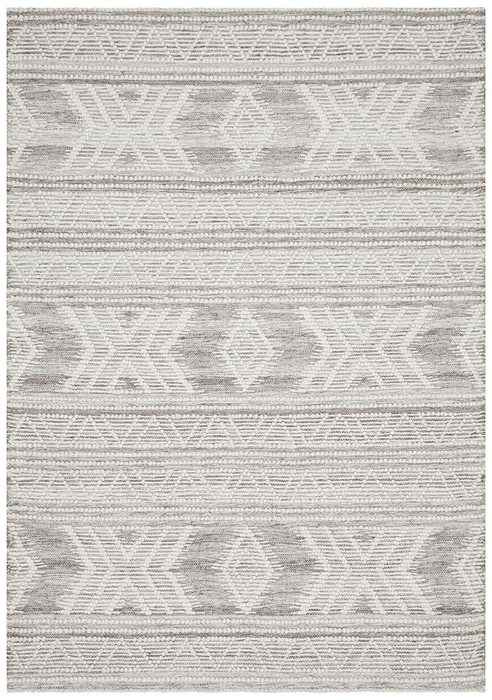 Esha Woven Tribal Rug Natural - MaddieBelle