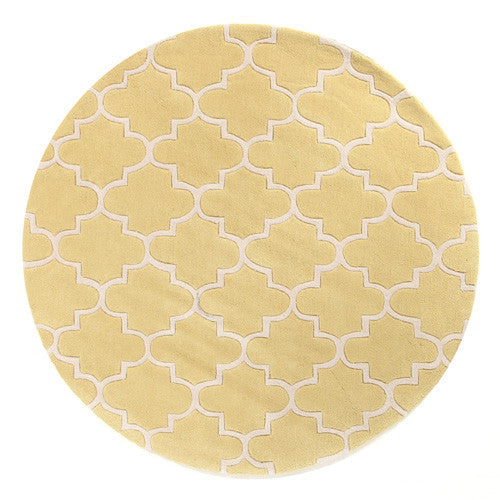 Lattice Chartreus Rug - MaddieBelle