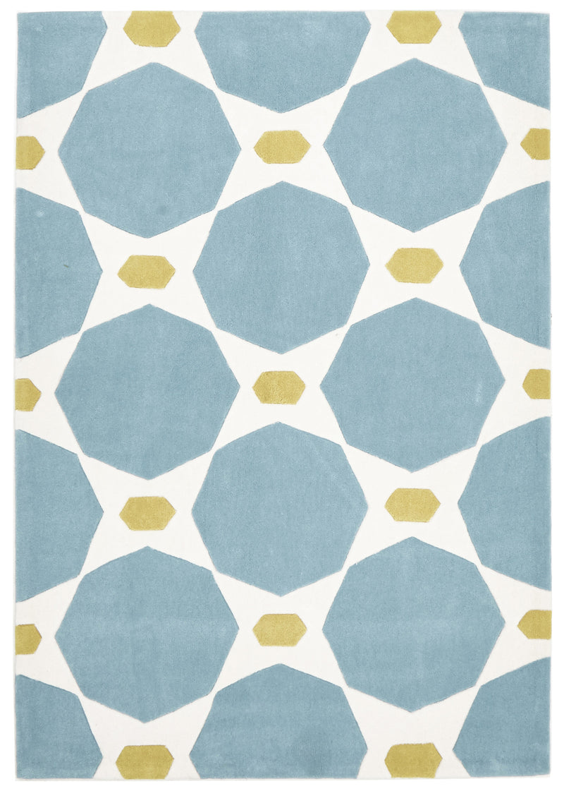 Blue and Yellow Hive Rug - MaddieBelle