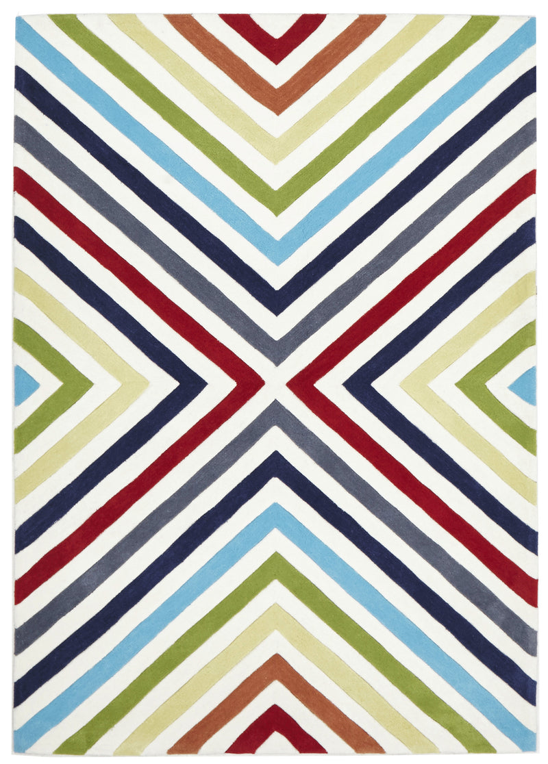 Cross Roads Design Rug Multi - MaddieBelle