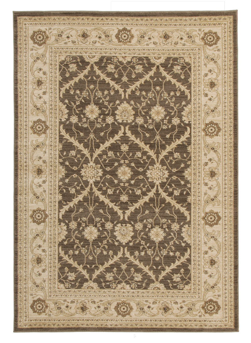 Persian Brown Diamond Rug - MaddieBelle