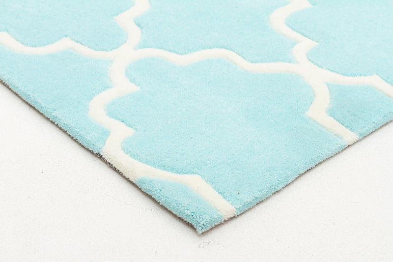 KIDS TRELLIS RUG DESIGN IN SOFT BLUE