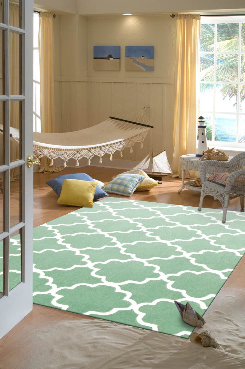 KIDS TRELLIS DESIGN IN SEA FOAM GREEN