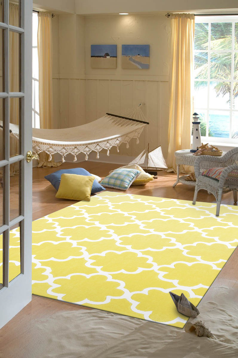 KIDS TRELLIS DESIGN IN YELLOW