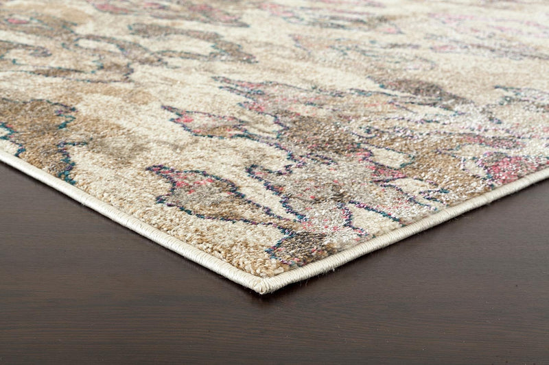 Kaitlin Soft Pink and Beige Rug - MaddieBelle
