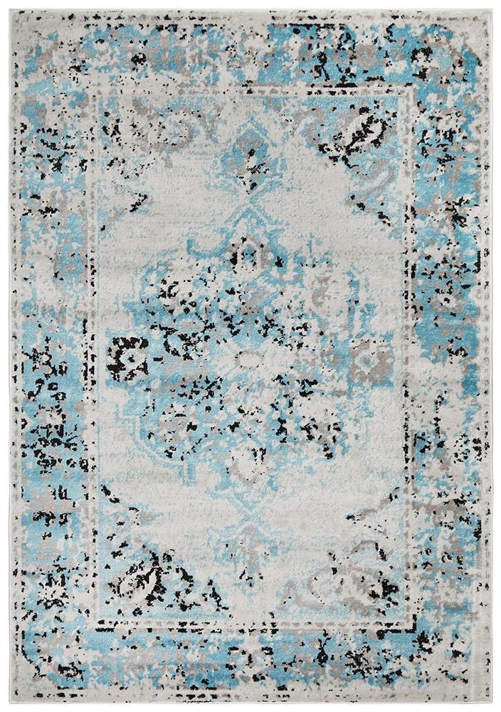 Alexa Transitional Rug Blue Grey - MaddieBelle