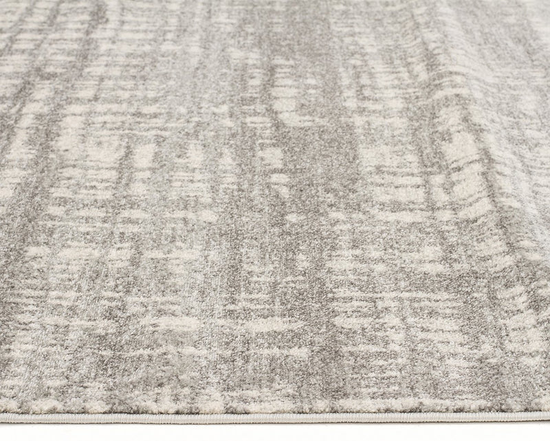 Ashley Abstract Modern Silver Grey Rug - MaddieBelle