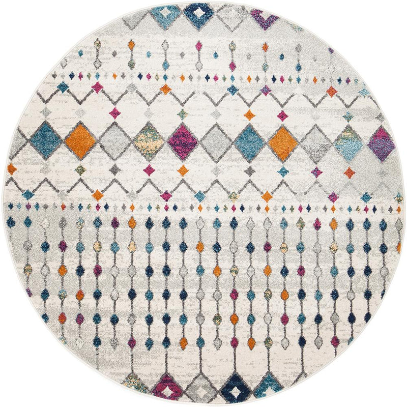 Peggy Tribal Morrocan Style Multi Round Rug - MaddieBelle