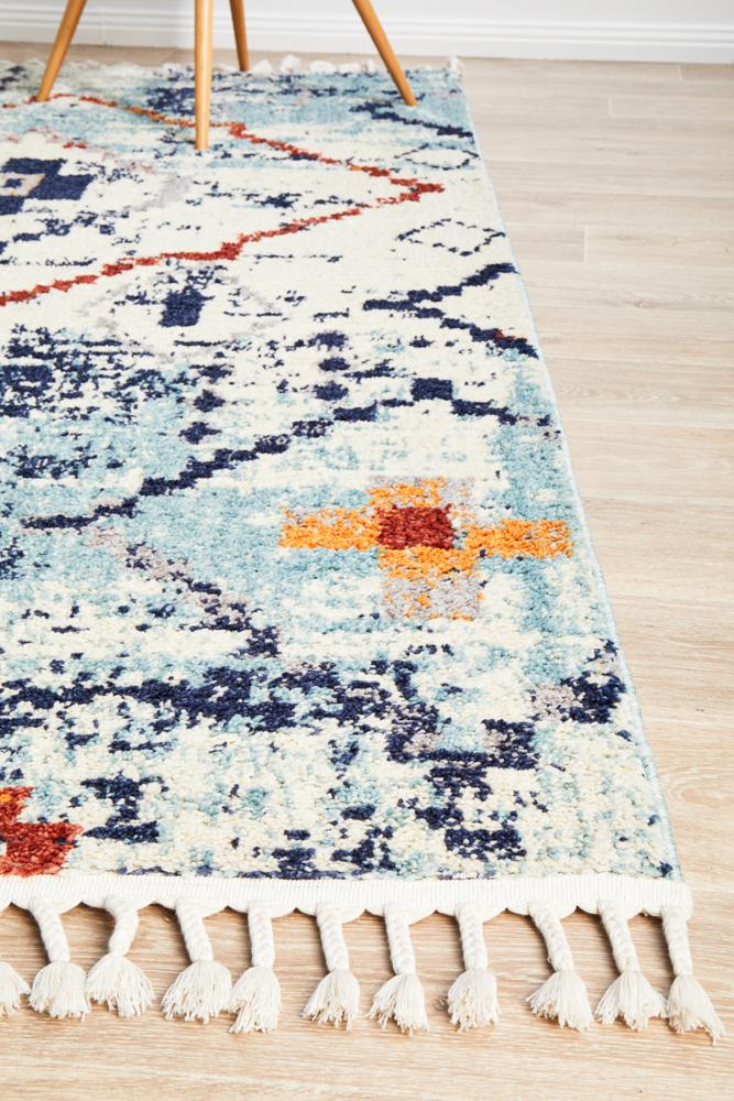 Marrakesh 444 Blue Rug - MaddieBelle
