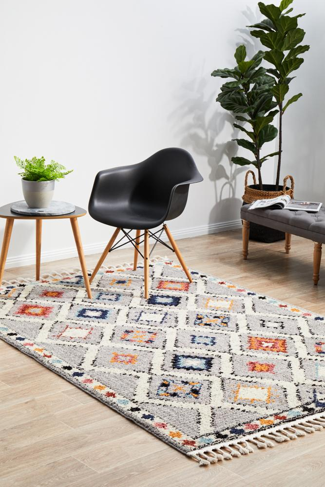 Marrakesh 555 Grey Rug - MaddieBelle