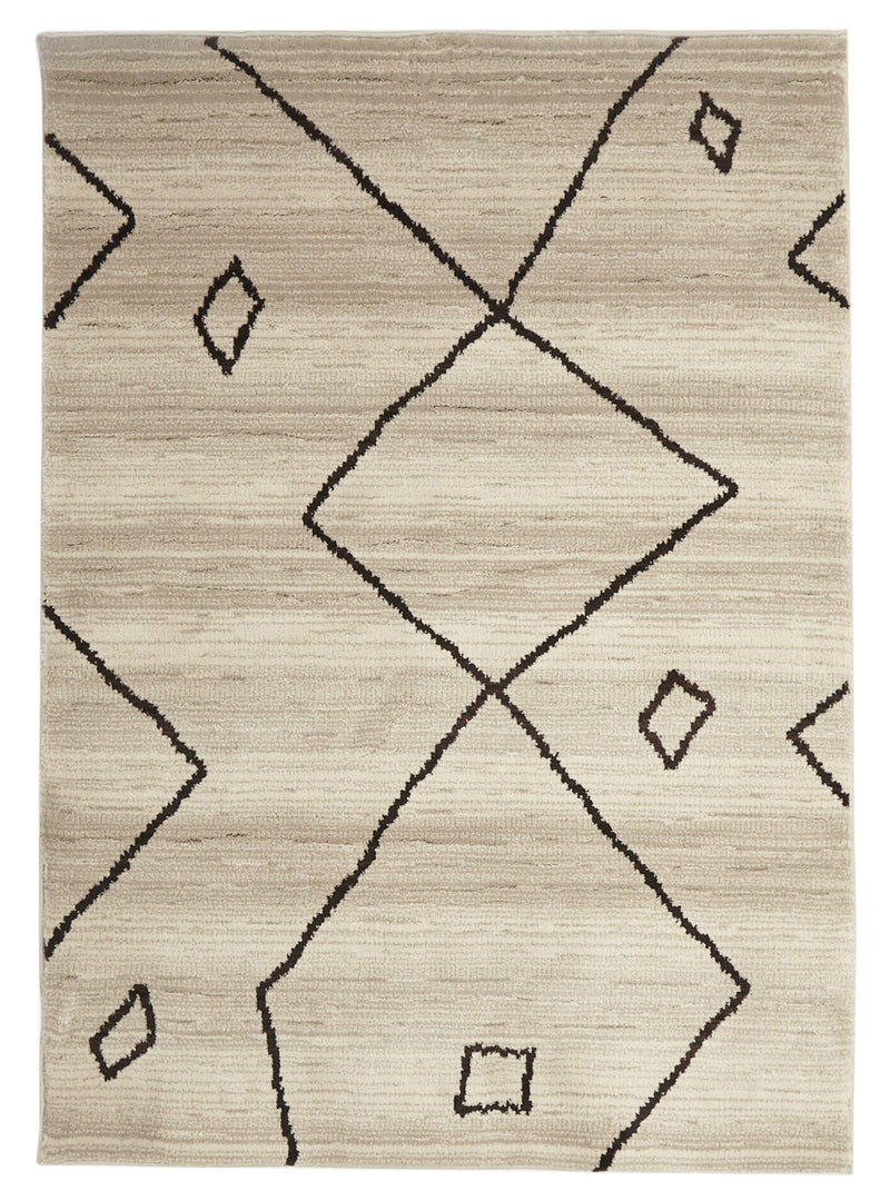 Moroccan Diamond Tribal Cream Rug - MaddieBelle
