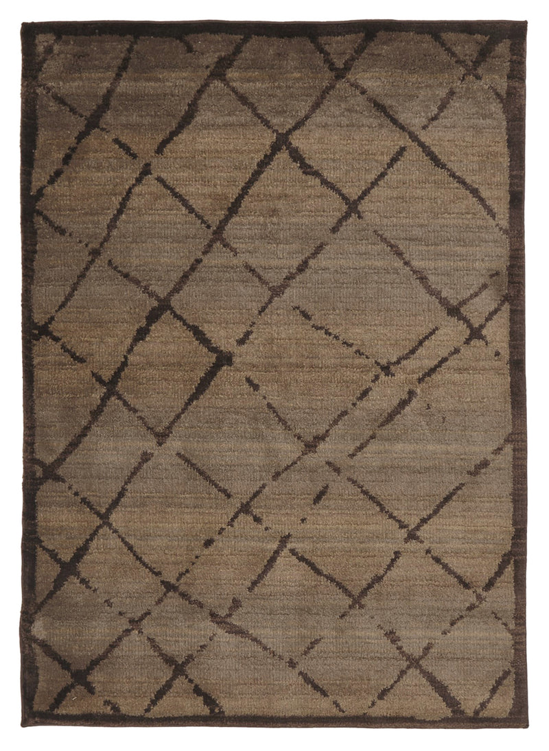 Moroccan Rustic Design Rug Chocolate