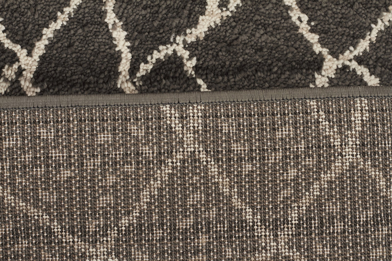 Moroccan Web Design Rug Grey