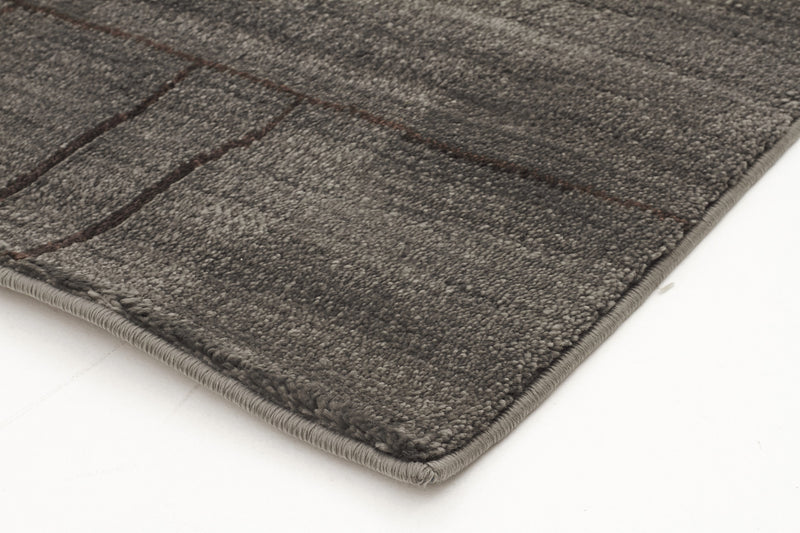 Moroccan Paved Design Rug Grey - MaddieBelle