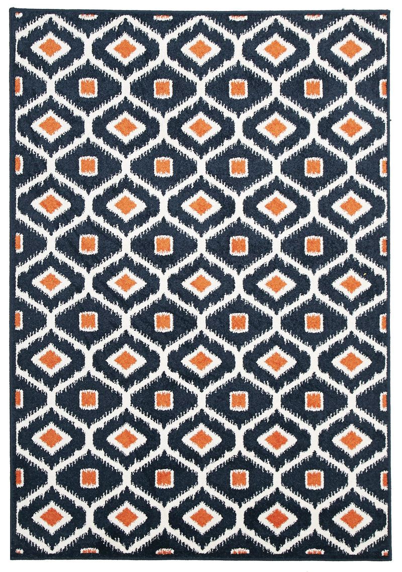 Indoor-Outdoor-Navy-Orange-Rug