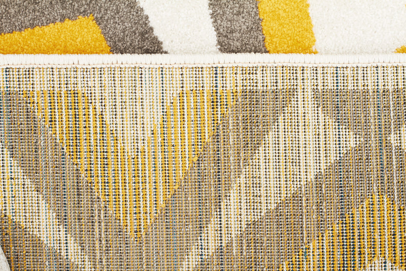 Indoor Outdoor Nadia Grey Yellow Rug