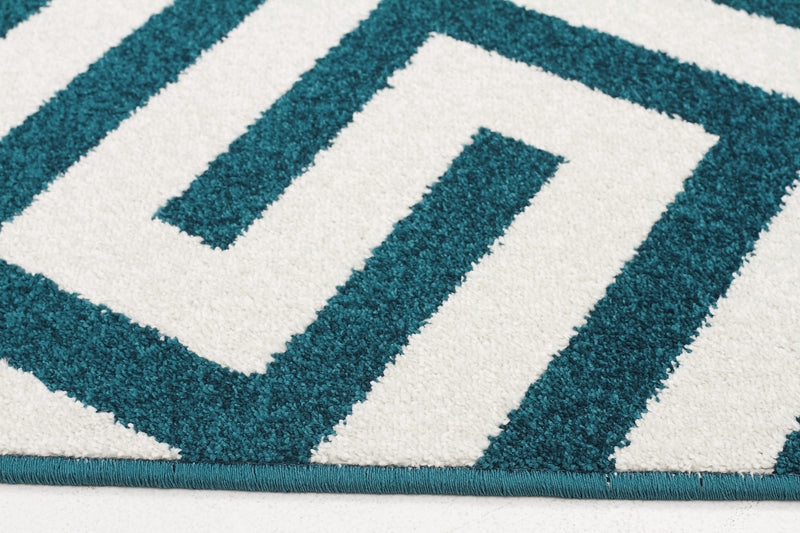 Indoor Outdoor Dolce Rug Peacock Blue