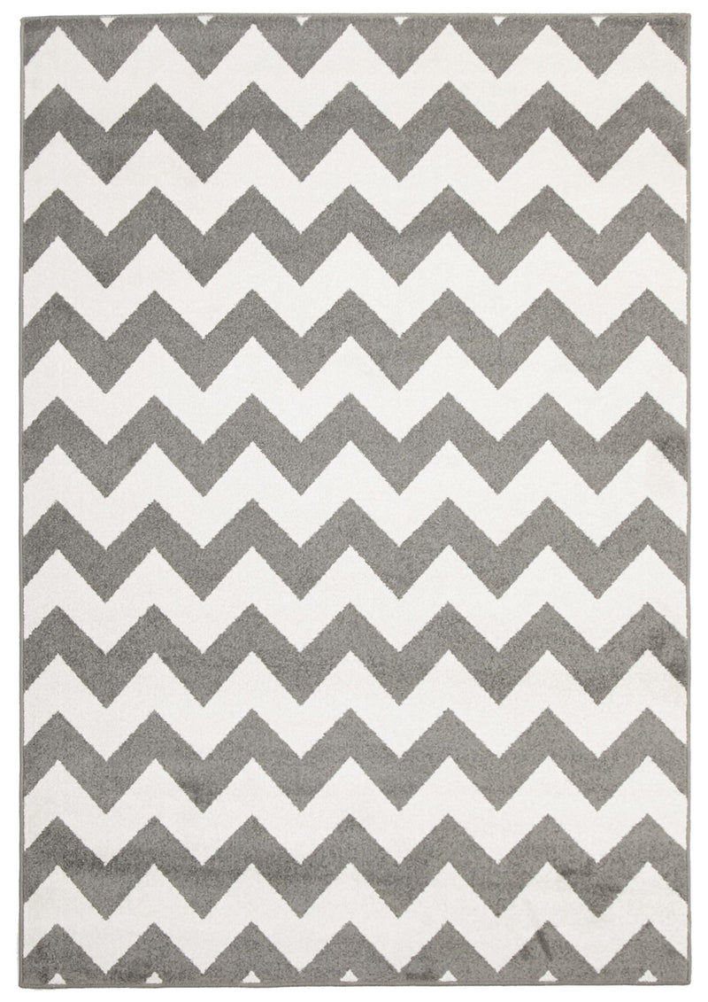 Indoor Outdoor Grey Zig Zag - MaddieBelle