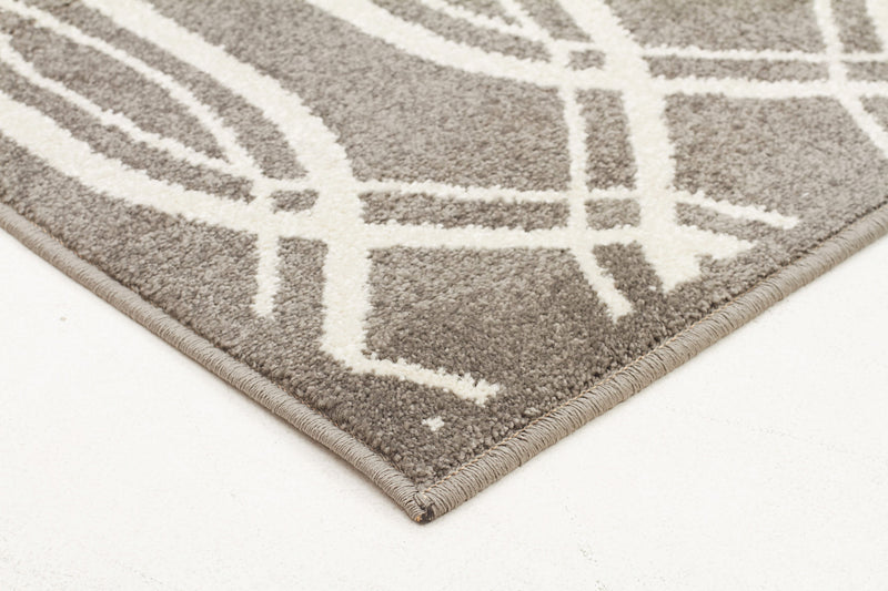 Indoor Outdoor Lucid Rug Grey - MaddieBelle