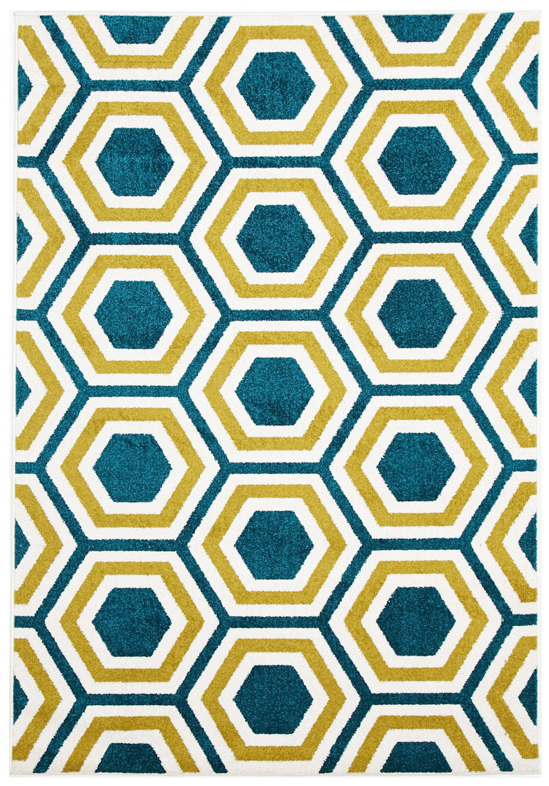 Indoor Outdoor Honeycomb Rug