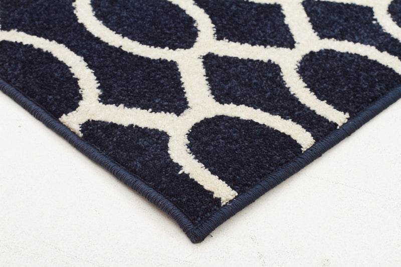 Indoor Outdoor Neo Rug Navy - MaddieBelle