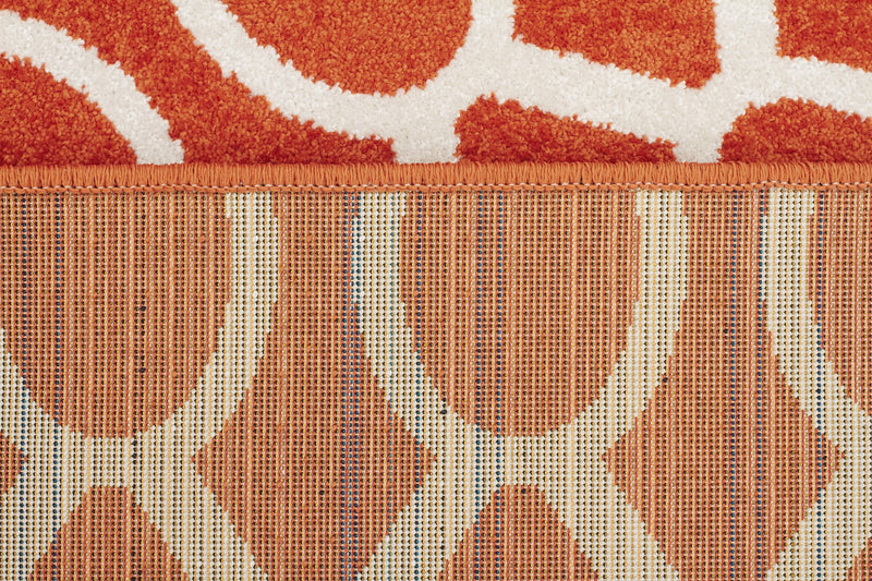 Indoor Outdoor Neo Rust Rug - MaddieBelle