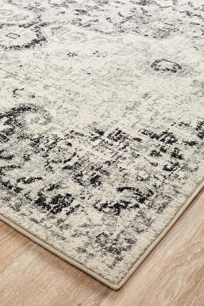 Museum Transitional Charcoal Rug - MaddieBelle