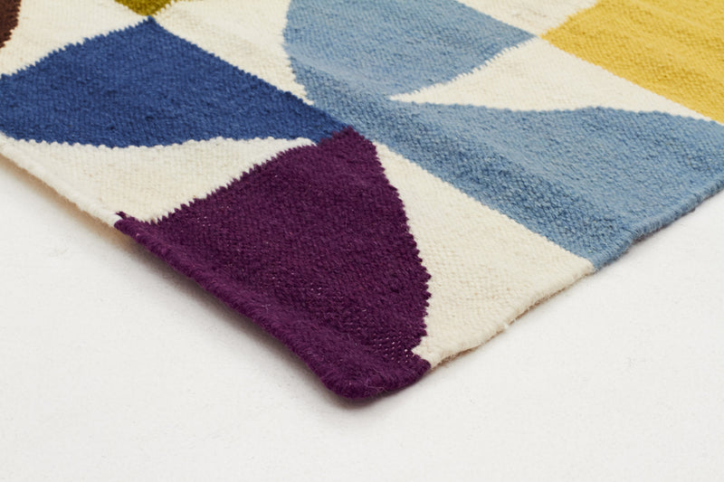Flat Weave Fun Multi Coloured Rug - MaddieBelle