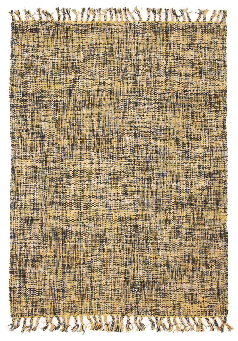 Sunshine Cotton Flat Woven Yellow Rug - MaddieBelle