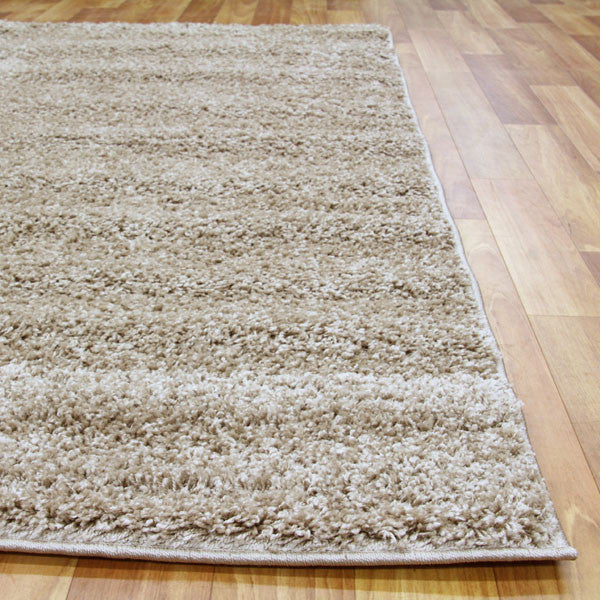 Light Beige Funky Plain Shag Rug