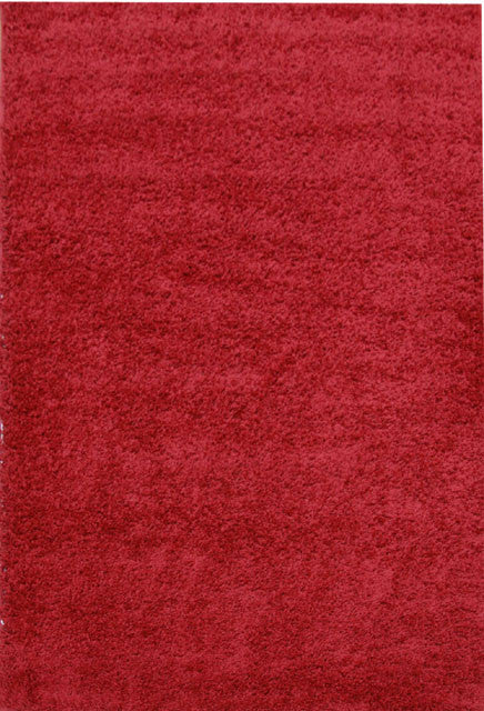Red Funky Plain Shag Rug - MaddieBelle