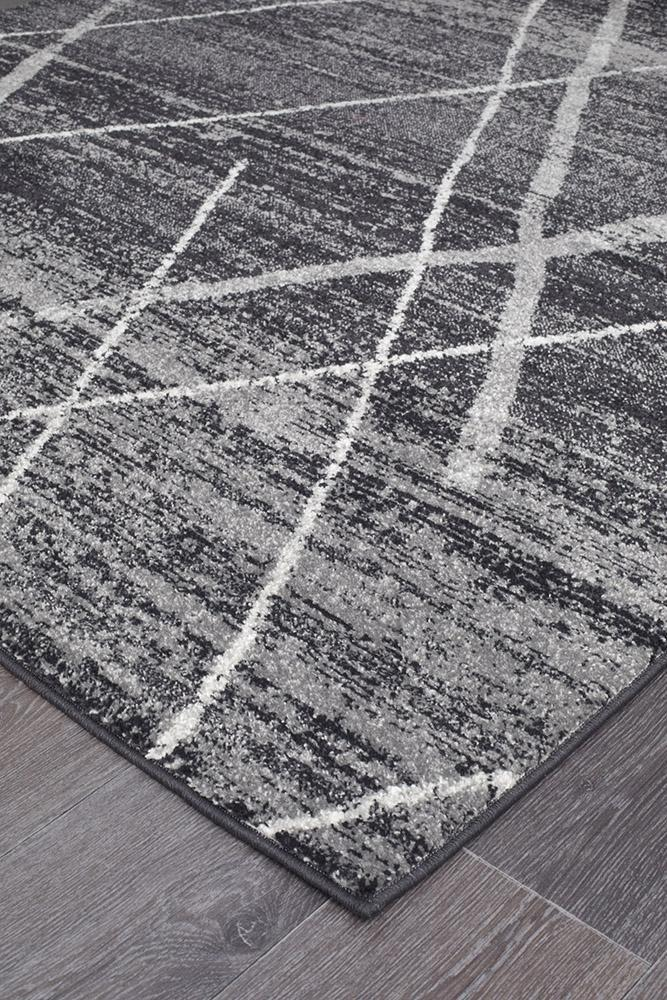 Oasis Noah Charcoal Contemporary Rug - MaddieBelle