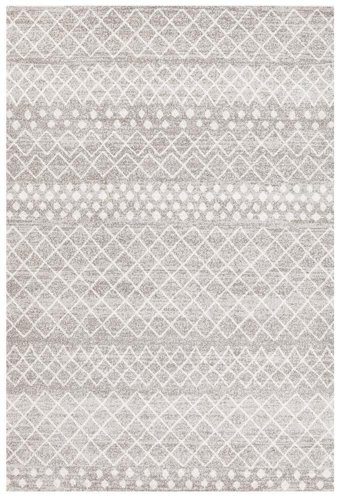 Oasis Selma Silver Tribal Rug - MaddieBelle