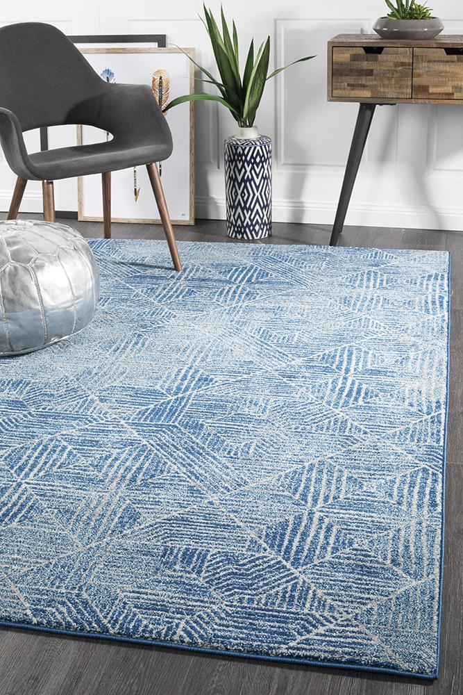 Oasis Kenza Contemporary Navy Rug - MaddieBelle