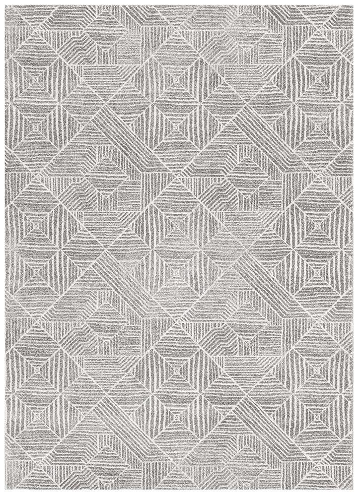 Oasis Kenza Contemporary Silver Rug - MaddieBelle