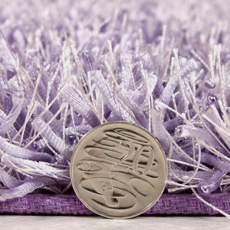 Metallic-Thin-Lilac-Shag-Rug