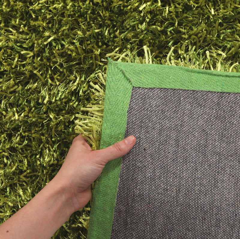 Metallic Thin Lime Shag Rug - MaddieBelle