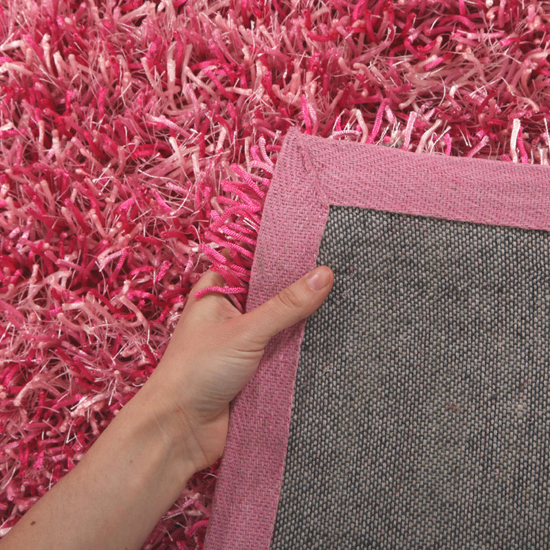Metallic-Thin-Pink-Shag-Rug