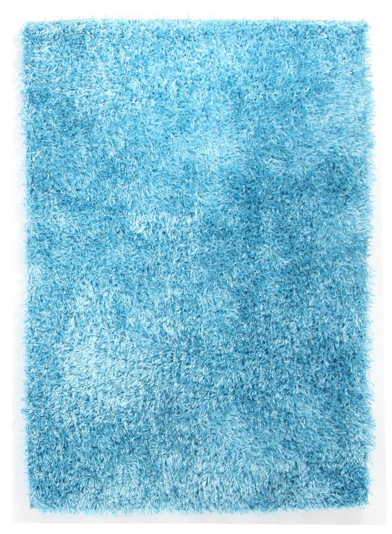 Metallic-Thin-Sky-Blue-Shag-Rug
