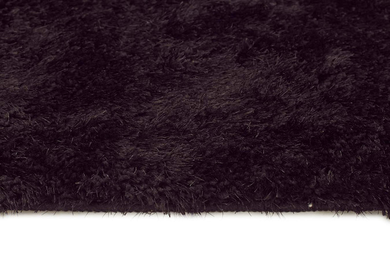 Plush Luxury Shag Rug Jet Black