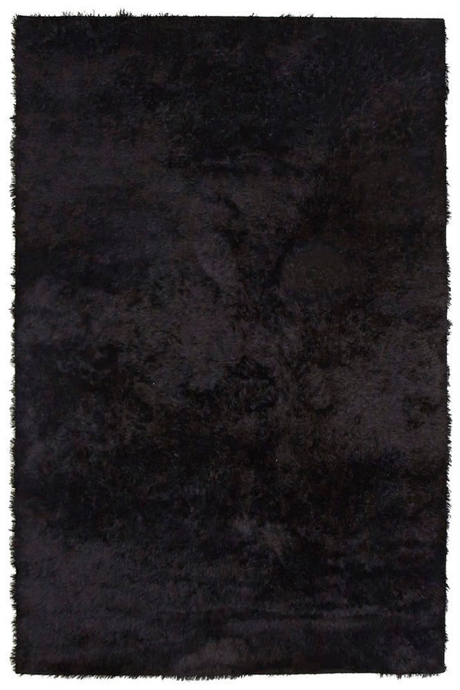 Plush Luxury Shag Rug Jet Black - MaddieBelle