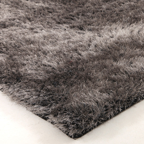 Plush Luxury Round Shag Rug Charcoal