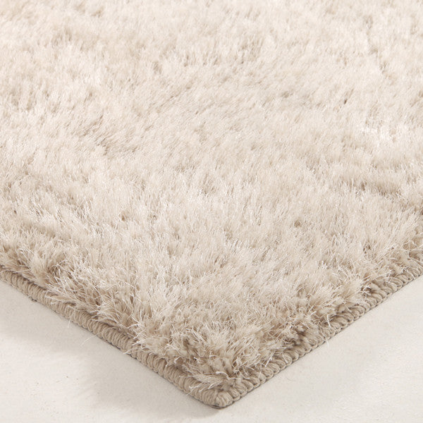 Plush Luxury Round Shag Rug Natural